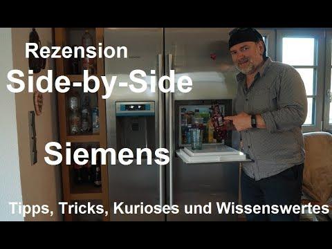 ✅Siemens Side by Side Kühlschrank Gefrierschrank KA90GAI20 iQ500 Eiswürfel Frischwasser Rezension