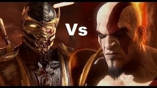 Mortal Kombat 9 - PS3 - Challenge - Kratos vs Scorpion