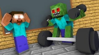 Monster School: Bodybuilding Challenge - Minecraft Animation