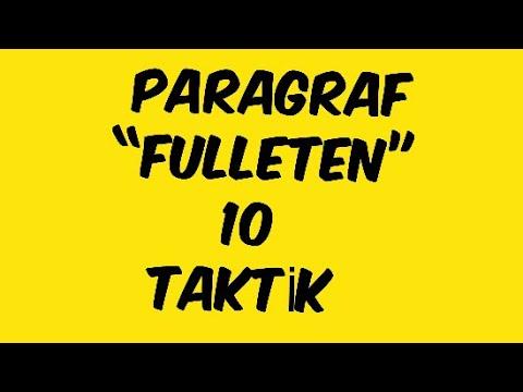 """Paragraf """"FULLETEN"""" 10 TAKTİK"""