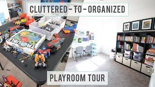 How To Declutter Kids Toys And An Organized Playroom Tour