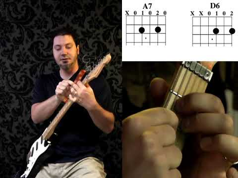 Guitar Lesson: Strumming with EASY chords E7 Am7, with Andy Schiller of BeyondGuitar.com