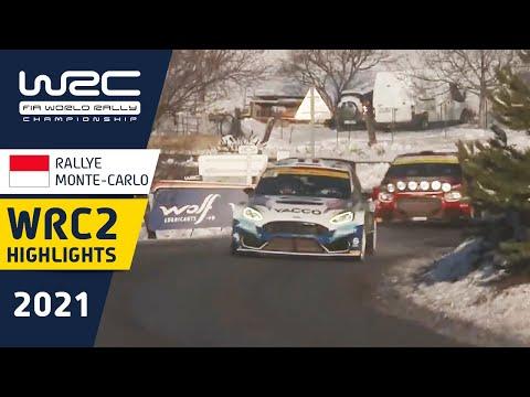 WRC2 2021 開幕戦のラリーモンテカルロ 土曜日のハイライト映像
