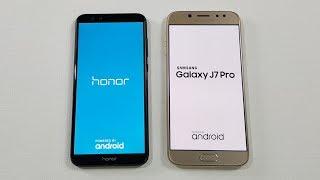 Honor 9 Lite vs Samsung J7 Pro Speed Test Comparison !