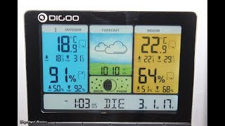 Цветная беспроводная метеостанция с подсветкой и барометром от компании Alexel - видео