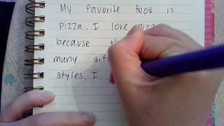 Miss Shotz writes a paragraph about her favorite food!