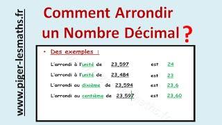 Math 6ème  : L'arrondi d'un nombre  ( Les nombres décimaux )