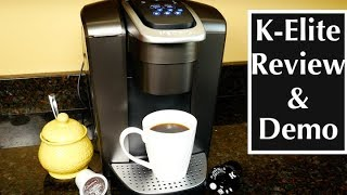 Keurig K-Elite Single Serve K-Cup Pod Coffee Maker Review and Demo