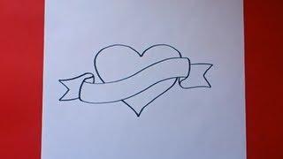 Como dibujar un corazón paso a paso   How to draw a heart