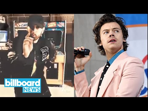 Harry Styles Gets Real About Isolation, Eminem on #GodzillaChallenge Winner & More | Billboard News