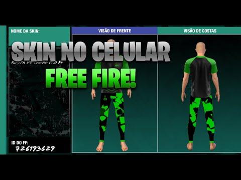 COMO FAZER SKIN DO FREE FIRE NO CELULAR |EVENTO #proff