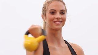 75-Min Beginner Total Body Kettle Bell Workout-Kettlebell Strengthening Workout 500 Calories by GymRa