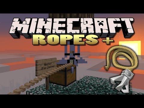 Minecraft: Ropes Plus Mod | Rope Swings, Ziplines!