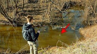 Корчажка для ловли рыбы в маленькой речке