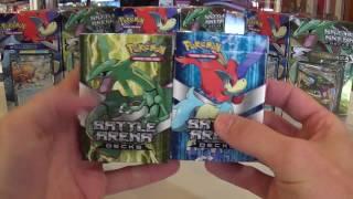 2016 XY Battle Arena Decks KELDEO VS RAYQUAZA !!!  Super Value
