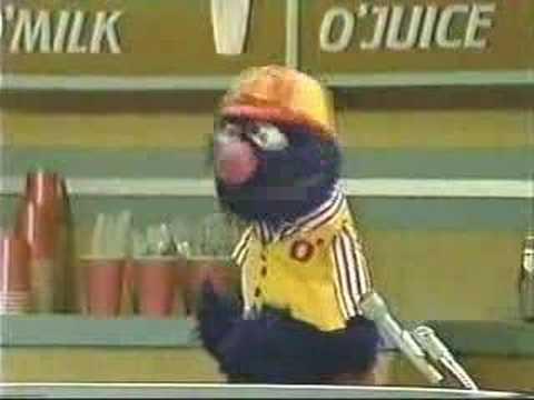 O'Classic Sesame O'Street - O'Grover the Fast Food O'Waiter
