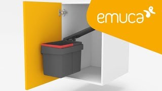 How to install a Recycle extractable waste container for doors