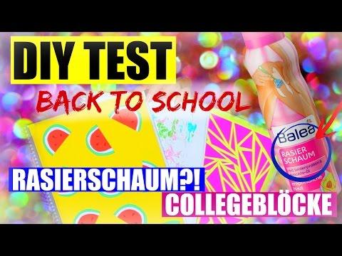 DIY BACK TO SCHOOL TEST: RASIERSCHAUM & COLLEGEBLOCK   SofiaBeautyCafe