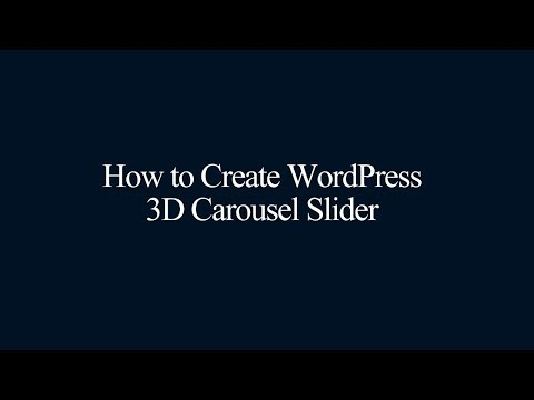 WordPress 3D Carousel