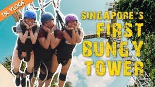 SINGAPORE'S FIRST BUNGY TOWER - AJ HACKETT SENTOSA | TSL Vlogs