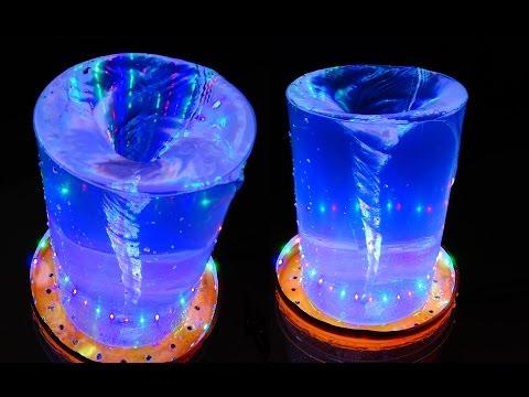 Tự chế đài phun nước có gắn đèn Led cực đẹp