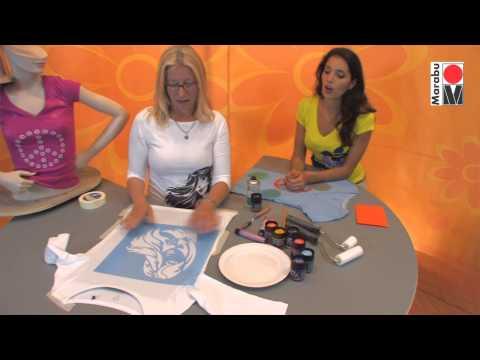 Marabu Anleitungsvideo | Textildesign mit Marabu Textil plus