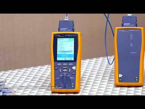 How to Test Copper Ethernet Network Cable Using Fluke Network Tester | FS