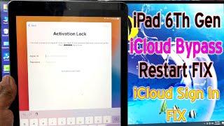 iPad 6Th Gen iOS 14.4 iCloud Activation Bypass,Restart Shutdown FIX,iCloud Sign In Notification FIX✔