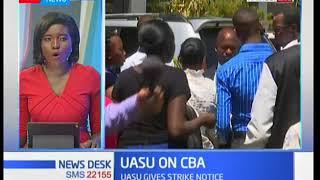 UASU gives strikes notice.
