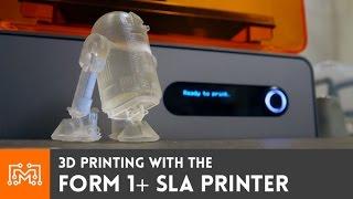 Form 1+ SLA 3d printer // Review