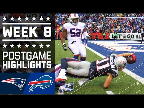 Patriots vs. Bills | NFL Week 8 Game Highlights