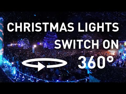 360° Christmas lights switch on 2016 | UoS
