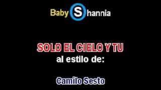 preview picture of video 'CAMILO SESTO - SOLO EL CIELO Y TU (demo karaoke)'