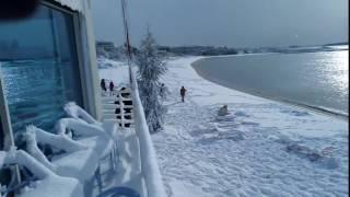 Le fantastiche immagini della neve sulle spiagge di Porto Cesareo