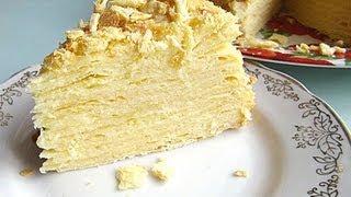 Смотреть онлайн Классический рецепт торта Наполеон