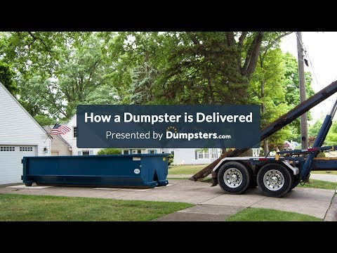 How a Roll Off Dumpster is Delivered | Dumpsters.com