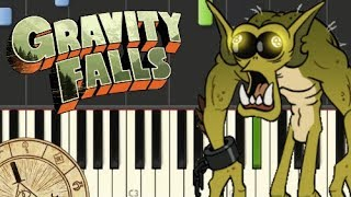 gravity falls theme song piano weirdmageddon easy