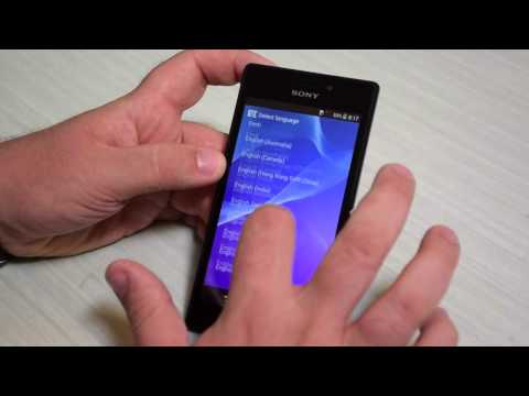 Foto Sony Xperia M2: video Unboxing