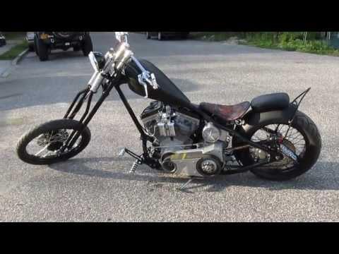 2007 Custom Chopper For Sale~Sante Frame~Flat Black~100″ Rev Tech Motor~Baker 6 Speed Frankentrans~