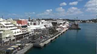 preview picture of video 'Hamilton, Bermuda from top of Fore mast, Sorlandet (March 22nd,2012)'