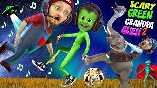 SCARY GREEN FGTeeV GRANDPA ALIEN 2!  Save 👽 Friends Again (Weird Funny Hello Neighbor Farmer Game)