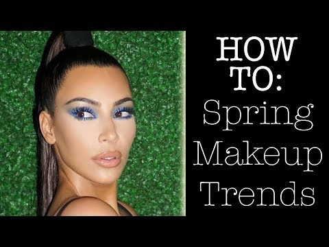 BEST SPRING 2018 MAKEUP TRENDS- HOW TO! | KKW Blue Smokey Eye | Beauty Banter