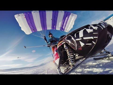 hqdefault - Locura nivel... Moto de nieve + Paracaidas y me tiro por un acantilado