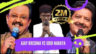 #AjayKrishna blessed by Legend #SPB #ARRahman Request to Ajay Krishna Sing Like #UditNarayanan
