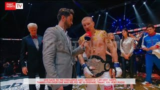 FIGHT NIGHTS GLOBAL 62 Backstage