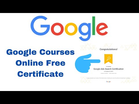 Google Free Training Certificate | Google Courses Online Free ...