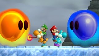 Newer Super Mario Bros Wii   All Bosses (2 Player)