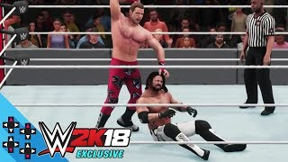 WWE 2K18 First FULL GAMEPLAY Match! AJ Styles vs Shawn Michaels Dream Match!