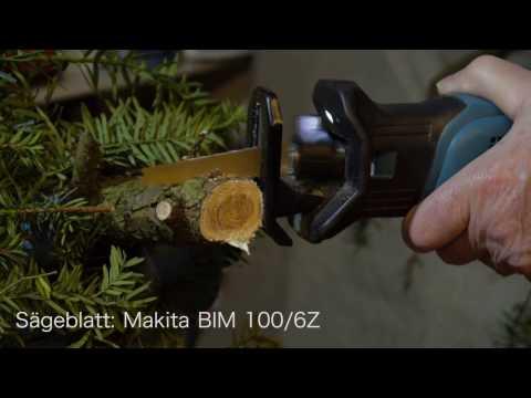 Maktita Akku-Reciprosäge DJR 183/1,5 Ah im Grünholz-Einsatz