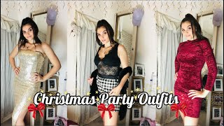 My Christmas Party Outfits! Chilled To Glam